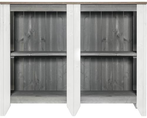 Gartenschrank/Outdoorküche Konsta Typ 561 Sideboard 115x40x88 cm hellgrau-creme