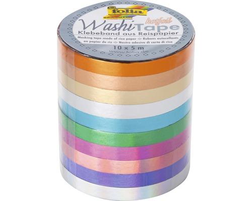 Washi-Tape mit Heißfolienveredelung 10er Set