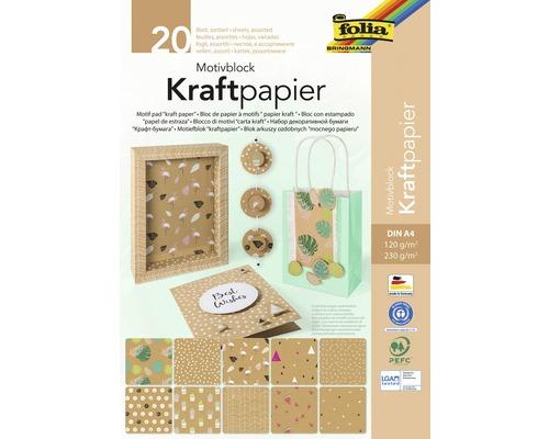 Motivblock Kraftpapier DIN A4