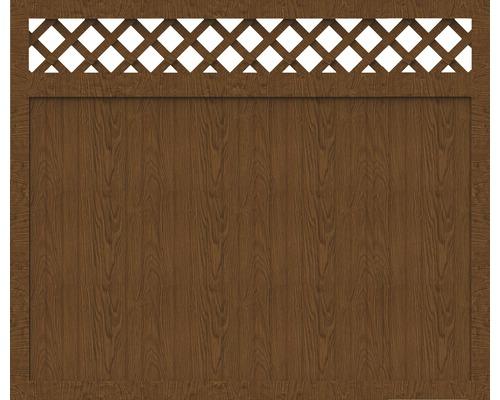 Sichtschutzelement Basic Line Typ O Golden Oak 180 x 150 x 4,8 cm