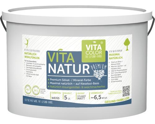 Vita Natur Premium Silikatfarbe Mineralfarbe weiß 5 L