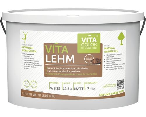 Vita Lehm Wandfarbe Lehmfarbe naturweiß 12,5 L