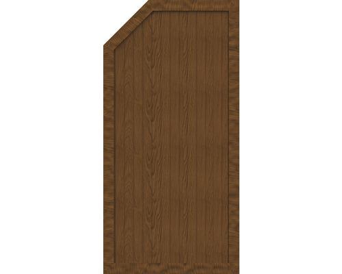 Sichtschutzelement Basic Line Typ E, links, Golden Oak 90 x 180/150 x 4,8 cm