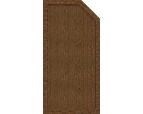 Sichtschutzelement Basic Line Typ E, rechts,  Golden Oak 90 x 180/150 x 4,8 cm