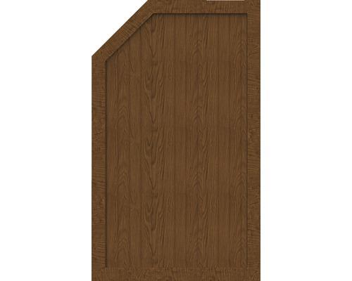 Sichtschutzelement Basic Line Typ L, links, Golden Oak 90 x 150/120 x 4,8 cm