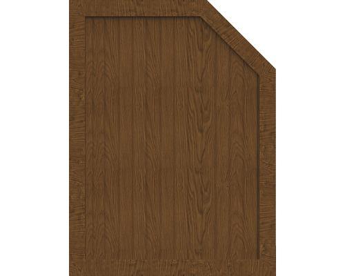 Sichtschutzelement Basic Line Typ M, rechts, Golden Oak 90 x 120/90 x 4,8 cm