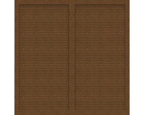 Sichtschutzelement Basic Line Typ S Golden Oak 180 x 180 x 4,8 cm