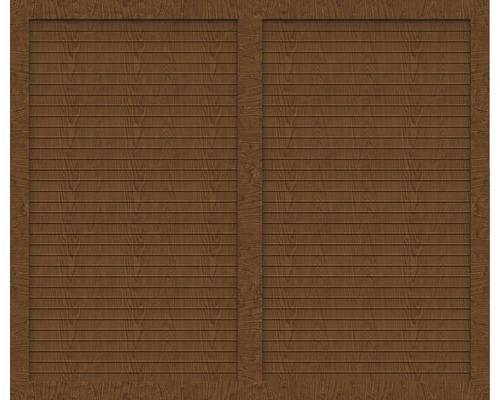 Sichtschutzelement Basic Line Typ U Golden Oak 180 x 150 x 4,8 cm