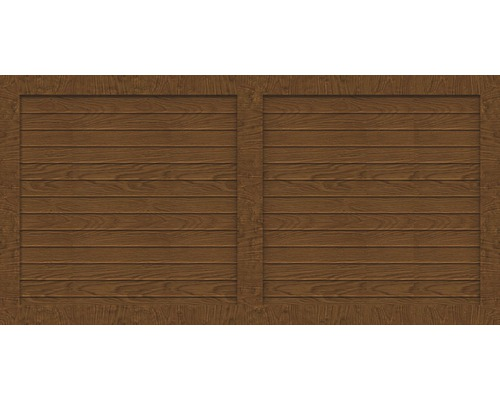 Sichtschutzelement Basic Line Typ W Golden Oak 180 x 90 x 4,8 cm