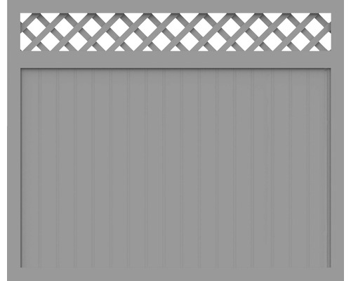 Sichtschutzelement Basic Line Typ O Grau 180 x 150 x 4,8 cm