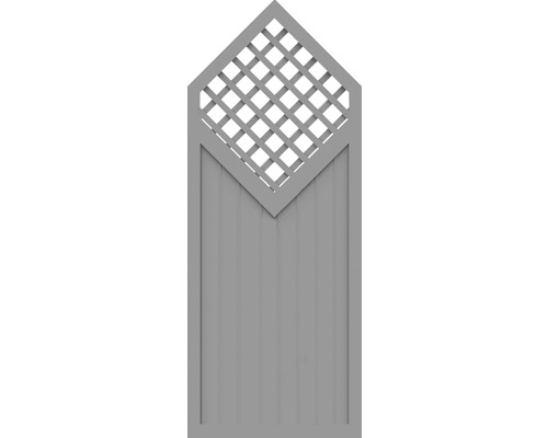 Sichtschutzelement Basic Line Typ D Grau 90 x 225/180 x 4,8 cm