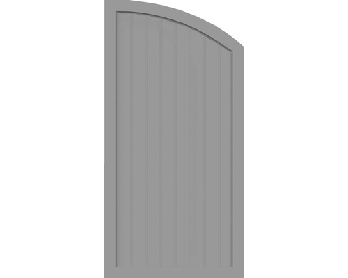 Sichtschutzelement Basic Line Typ H, rechts, Grau 90 x 180/150 x 4,8 cm