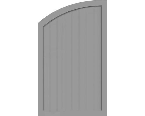 Sichtschutzelement Basic Line Typ Q, links, Grau 90 x 150/120 x 4,8 cm