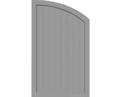 Sichtschutzelement Basic Line Typ Q, rechts, Grau 90 x150/120 x 4,8 cm