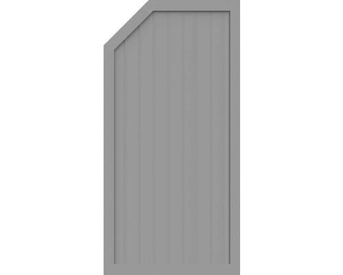 Sichtschutzelement Basic Line Typ E, links, Grau 90 x 180/150 x 4,8 cm