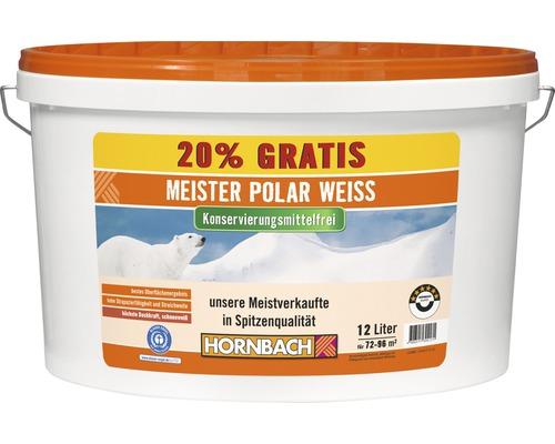 Wandfarbe Meister Polarweiß konservierungsmittelfrei 12 l