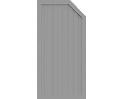Sichtschutzelement Basic Line Typ E, rechts, Grau 90 x 180/150 x 4,8 cm