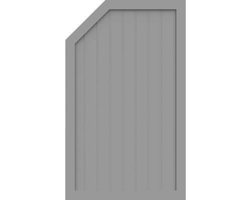 Sichtschutzelement Basic Line Typ L, links, Grau 90 x 150/120 x 4,8 cm