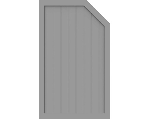 Sichtschutzelement Basic Line Typ L, rechts, Grau 90 x 150/120 x 4,8 cm