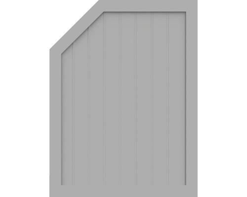 Sichtschutzelement Basic Line Typ M, links, Grau 90 x 120/90 x 4,8 cm
