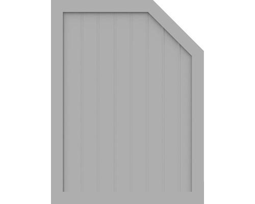 Sichtschutzelement Basic Line Typ M, rechts, Grau 90 x 120/90 x 4,8 cm