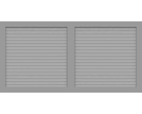 Sichtschutzelement Basic Line Typ W Grau 180 x 90 x 4,8 cm