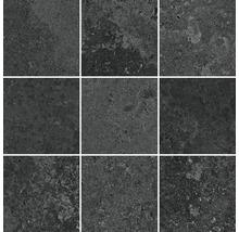 Feinsteinzeug Mosaik Candy graphit matt 29,8x29,8 cm