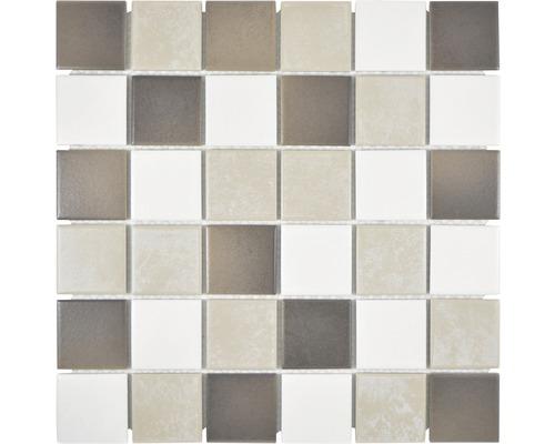 Keramikmosaik CD 218 Quadrat 30,6x30,6 cm mix beigebraun