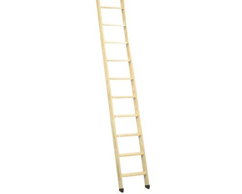 Hochbettleiter Dolle Kiefer/Buche unbehandelt mit 10 Stufen