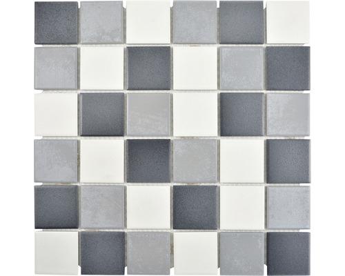 Keramikmosaik CD 216 Quadrat 30,6x30,6 cm mix grau