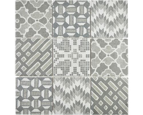 Keramikmosaik Pico G Quadrat Pico 29,8x29,8 cm grigio