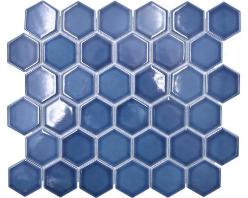 Keramikmosaik HX530 Hexagon Uni baugrün glänzend