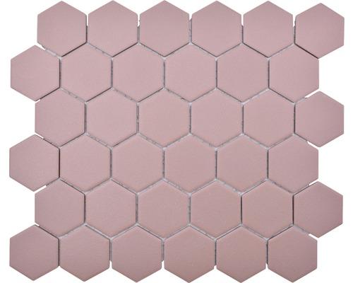 Keramikmosaik HX AT54 Hexagon Uni klinkerrot R1