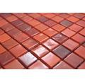 Glasmosaik GM MRY 300 Quadrat 29,5x29,5 cm Glas rot