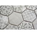 Keramikmosaik HX Curio G Hexagon curio 32,5x28,1 cm grau