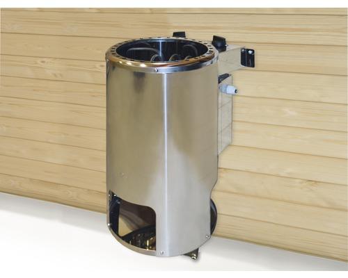 Saunaofen-Set Weka Kompakt Rund 3,6 kW mit integr. Steuerung