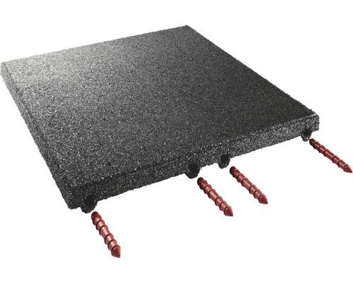 Stallmatte terrasoft 12 m² schwarz höher verdichtet 50 x 50 x 4 cm 48 Stk 31,2 kg/m²