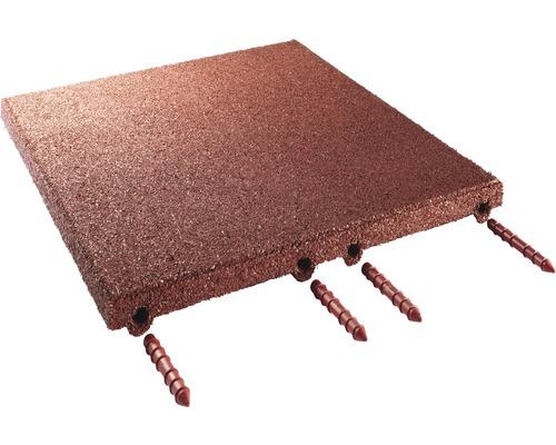 Stallmatte terrasoft 12 m² rot braun höher verdichtet 50 x 50 x 4 cm 48 Stk 31,2 kg/m²