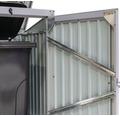 Mülltonnenbox 1-fach inkl. Gasdruckfedern 104x101x134 cm anthrazit
