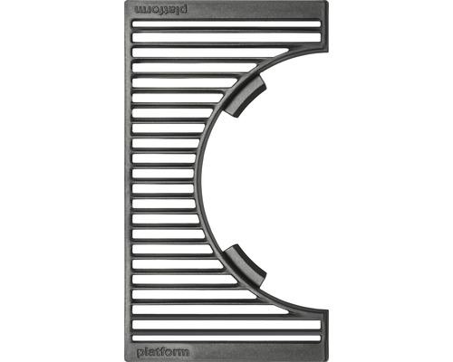 Tenneker® Grillrost Carbon halb 41,8 x 24 cm Gusseisen 2 Stk. schwarz