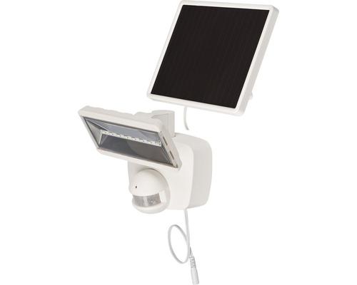 Solar LED Sensorstrahler SOL 800 IP44 mit Solar-Panel 400 lm 6000 K tageslichtweiß mit Bewegungsmelder weiß Leuchtdauer ca 3,5 h Brennenstuhl