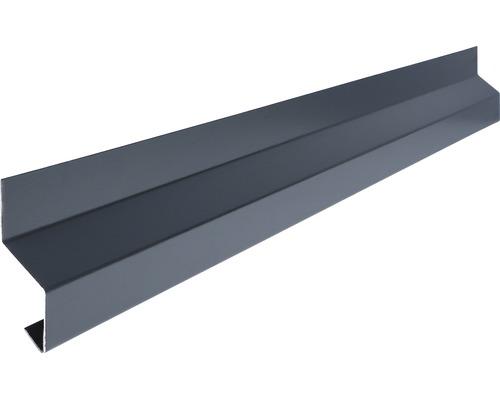 PRECIT Wandanschluss- Tropfkantenprofil Universalzubehör Smart anthracite grey RAL 7016 1 m