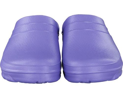 Clogs für Damen violett Gr. 36-37 mit Korkdecksohle