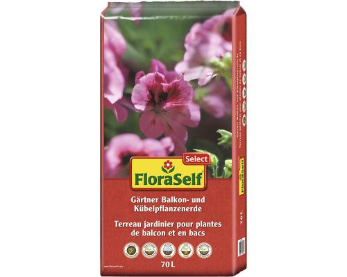 Gärtner Balkonblumenerde und Kübelpflanzenerde FloraSelf Select 70 L