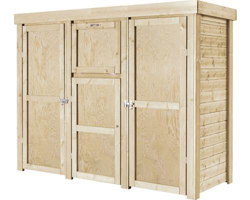 Mülltonnenbox, Paketschrank Typ 558 236 x 91 x 182 cm natur