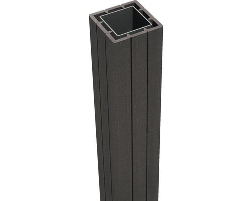 Pfosten GroJa WPC inkl. Kappe zum Aufschrauben 7 x 7 x 100 cm anthrazit
