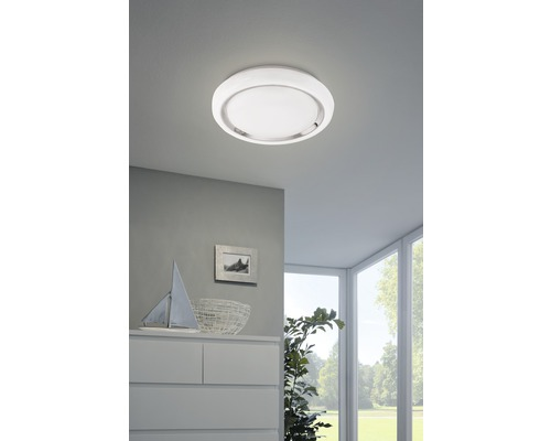 LED Deckenleuchte RGB/CCT 17W 2100 lm 2765 K warmweiß Ø 340 mm Crosslink weiß/chrom