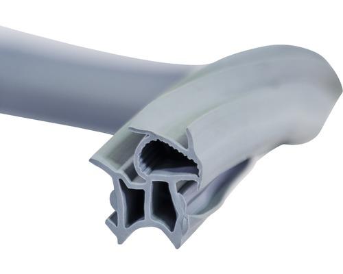 Stahlzargendichtung universal Länge 5 m Nutbreite 15 mm grau