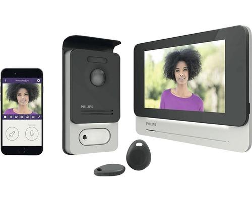 Philips WelcomeEye Connect Gegensprechanlage mit Videofunktion silber schwarz