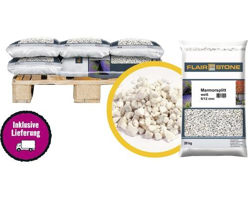 Marmorsplitt Flairstone 9-12 mm 1/4 Palette 12x20 kg